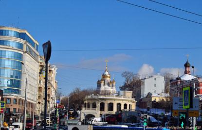 Центр Москвы зимой. Рождесвенский бульвар. Фотограф Илья LukBigBox Химич. 27-02-2018
