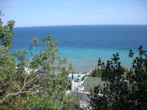 Крым. Алушта. Вид на море.