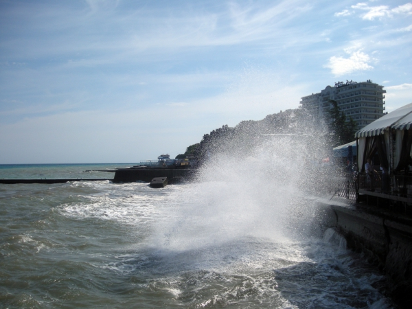 Крым. Алушта. Волна.